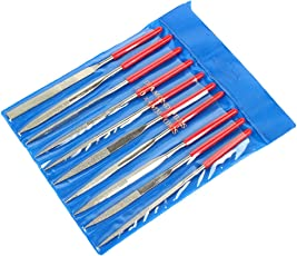 Fatmingo Diamond Needle File Set, Hand file for Metal Glass Jewelry Rough Carving 80Grit 5