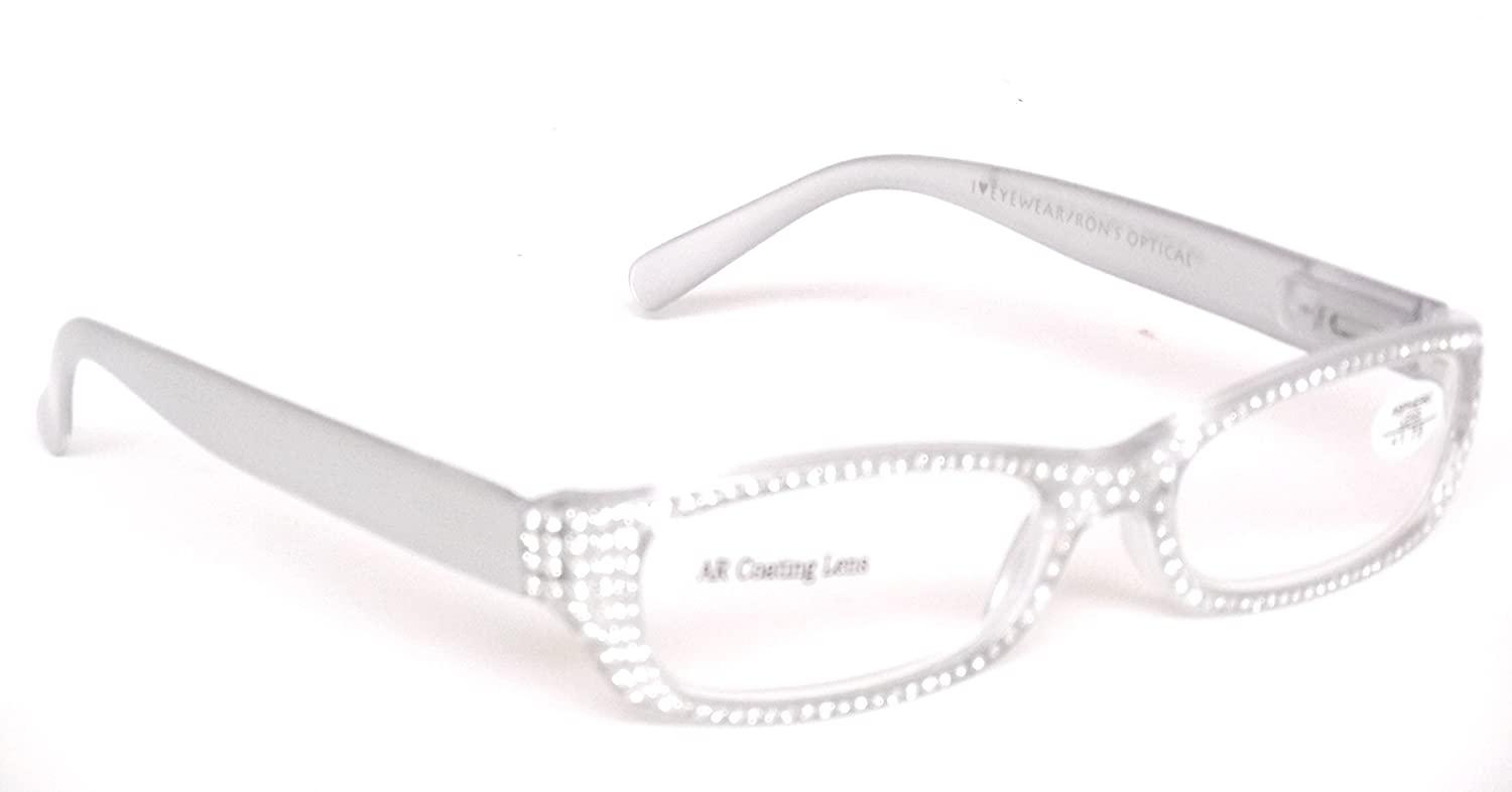 495a282266 Amazon.com   Optical Reading Glasses Sophisticated Design Women Frost Gray Ladies  Eyeglasses + Soft Pouch +1.75   Beauty