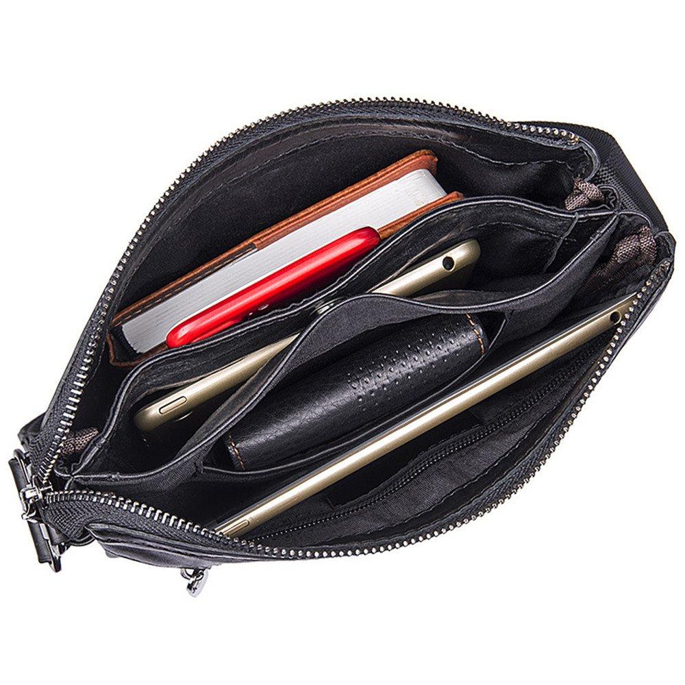 Black GLJJQMY Shoulder Bag Casual Mens Bag Fashion Simple Messenger Bag Mens Bag Briefcase 23x3x26.5cm Briefcase