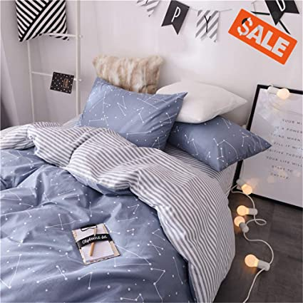fc15c7fb7c9b VClife Soft Queen Bedding Sets Chic Cotton Duvet Cover Reversible  Constellation Galaxy Printed Bedding Comforter Cover