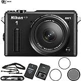 Nikon AW1 Waterproof Shockproof Digital Camera (27665B) Black + AW 11-27.5mm - (Certified Refurbish)