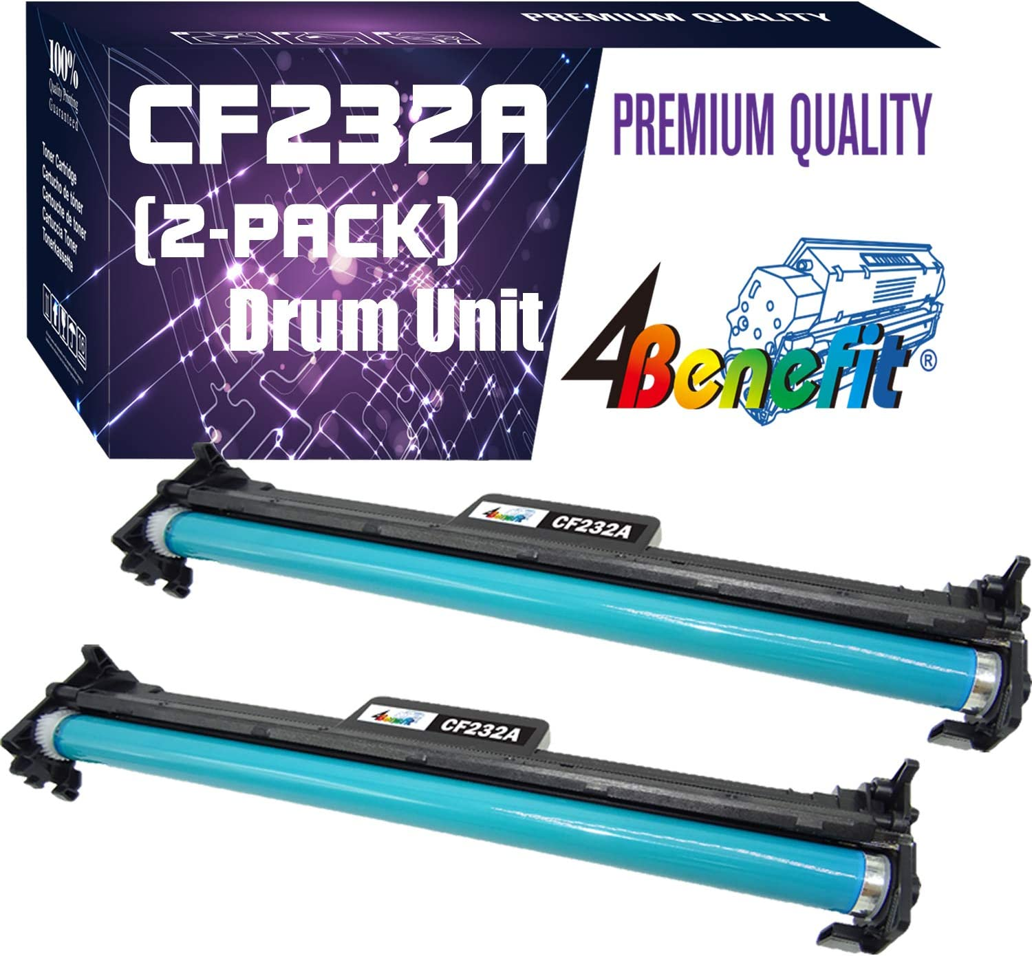 (1-Pack, Drum Unit) Compatible 32A 232A CF232A Imaging Drum Unit Used for HP Laserjet Pro M203dn M203dw M227d M227fdn M227fdw M227sdn Printer, by 4Benefit