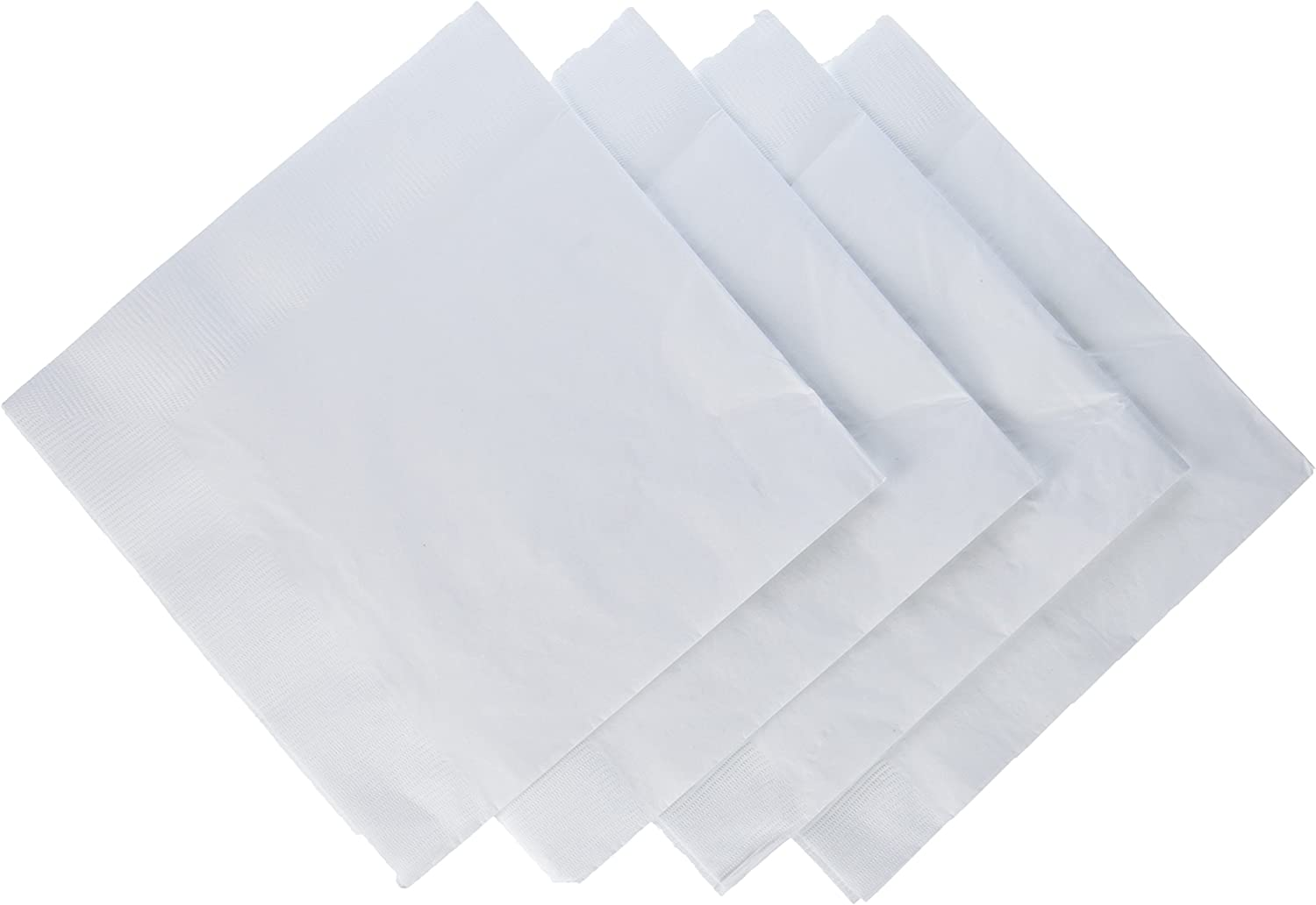 Two Big Party Packs of 2 Ply Disposable Paper Napkins. Red and White Beverage Napkins Party Bundle