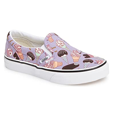 0f8ffde1d9c888 Vans Kids Classic Slip-On (Glitter Ice Cream) Lavender True White  VN0A32QIMN9