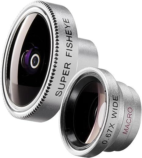 Walimex - Juego de objetivos para Apple iPhone/iPod y smartphones (ojo de pez y gran angular): Amazon.es: Electrónica