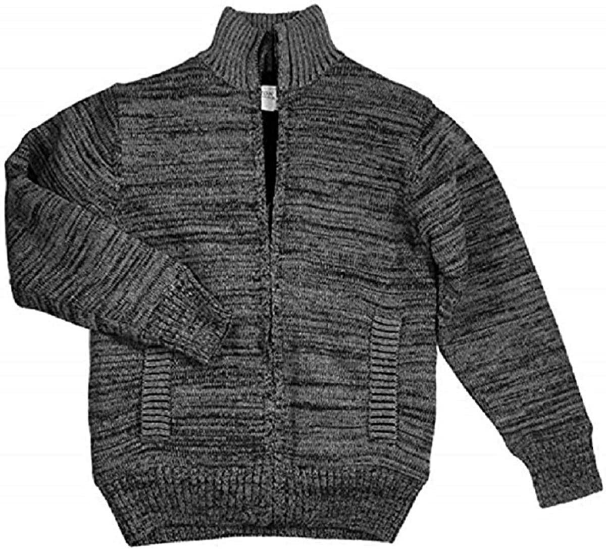 Boston Traders Full Zip Sherpa Lined Sweater Jacket for Boys