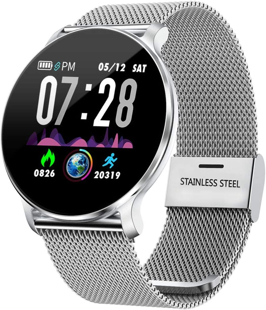 TagoBee TB11 Smartwatch Bluetooth IP68 Pulsera Inteligente Impermeable Reloj Movil HD Touch Screen Fitness Tracker Compatible con Android y iOS para Hombres Mujeres