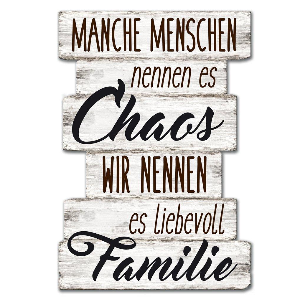 Wandschild Dekoschild Chaos Familie Schild Sprüche Vintage Shabby 29 X 20  Cm: Amazon.de: Küche U0026 Haushalt