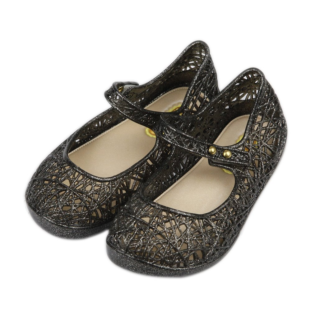 iFANS Baby Girls Mary Jane Jelly Bird Nest Layered Lines Sandals