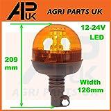 APUK Pair of Headlights Head Light Headlamps Indicator Compatible with JCB Telehandler Loader Loadall