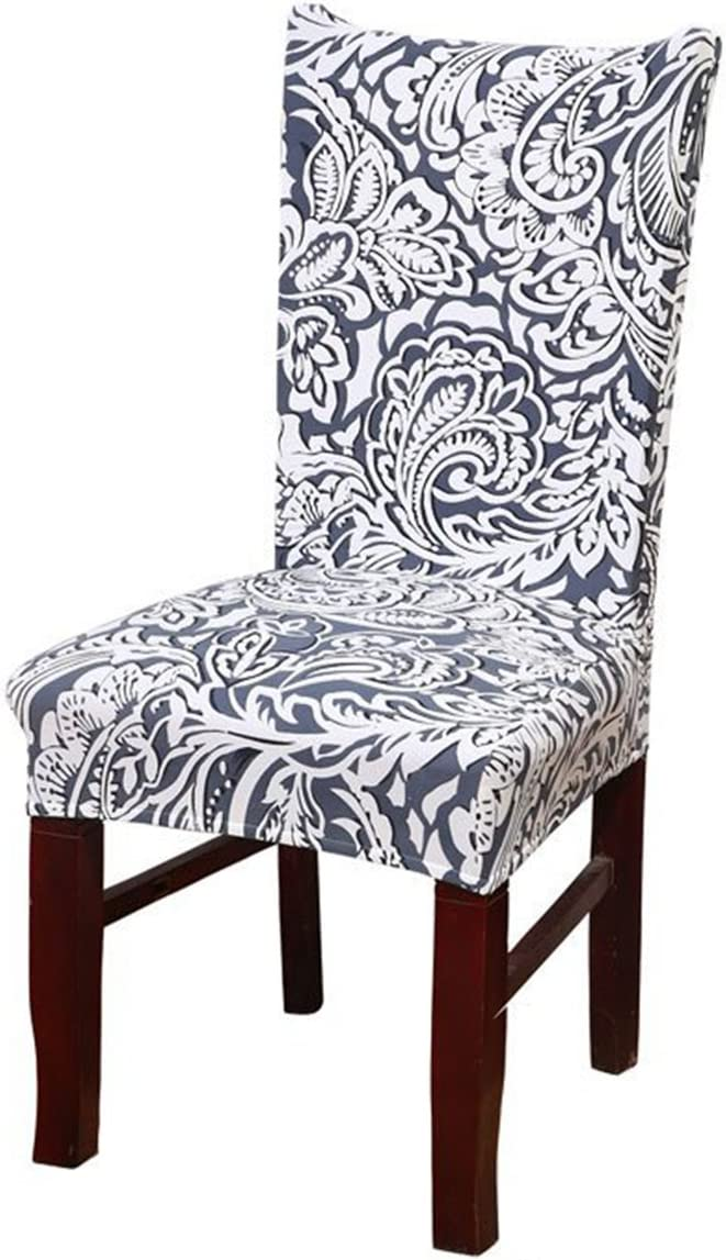 Kaariss Stretch Removable Washable Short Dining Chair Protector Cover Slipcover, 05