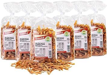 Kreuzerhof - Pasta de proteína con magnesio, hidrato de carbono, pasta de proteínas con abundante proteínas y sabor (6 unidades de 250 g)