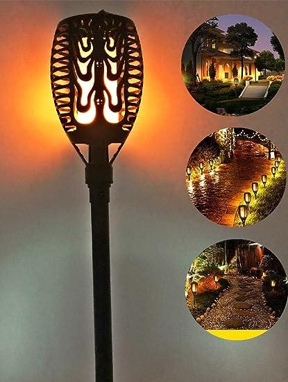 Amazon portable waterproof led solar flickering lamp torch portable waterproof led solar flickering lamp torch light lighting dusk dancing flame lights wall lighting for aloadofball Image collections