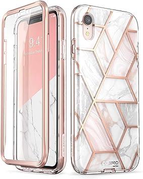 i-Blason Funda para iPhone XR 6.1 [Cosmo] 360 Carcasas con Protector de Pantalla Incorporada Mármol: Amazon.es: Electrónica