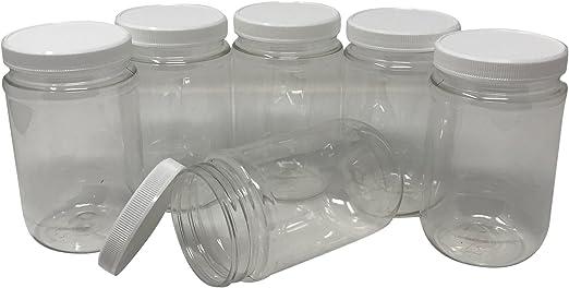 Plastic Mason Jars 16oz. 8