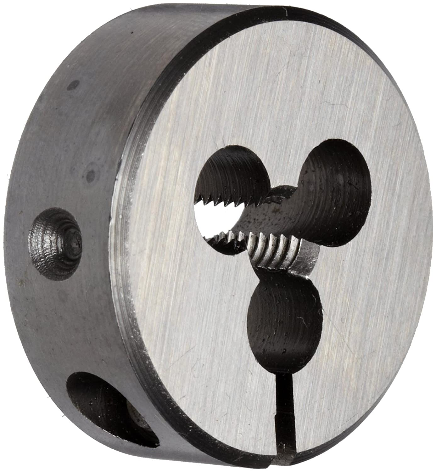 Uncoated 3//8-16 Thread Size Union Butterfield 2510 Bright High-Speed Steel Round Threading Die Finish 1 OD UNC