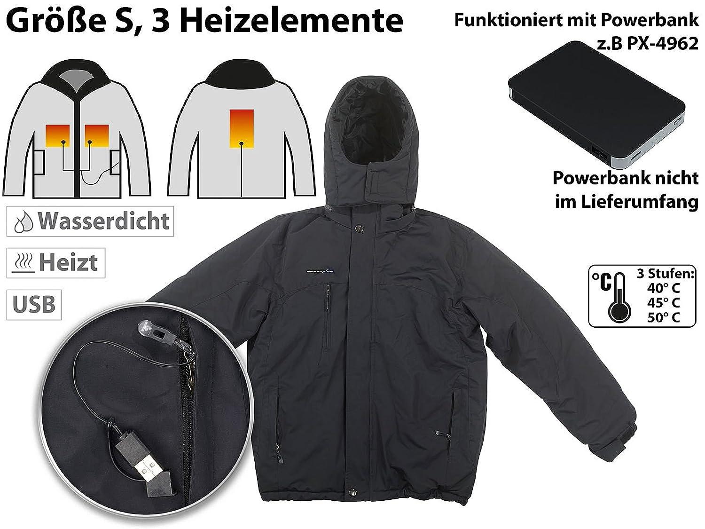 PEARL urban Heizjacke: Beheizbare Outdoor-Jacke mit USB-Anschluss, 3  Heizelemente, Größe S (Beheizte Jacke): Amazon.de: Bekleidung