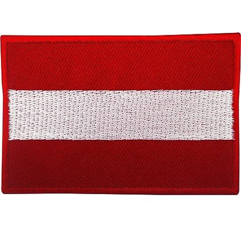 Bandera de austria Parche Bordado de Aplicación con Plancha: Amazon.es: Hogar