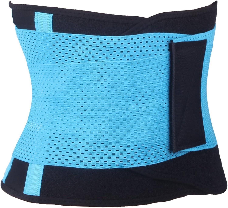 SAYFUT Waist Trimmer Corset Mesh Back Brace Waist Support Belt Belly Band
