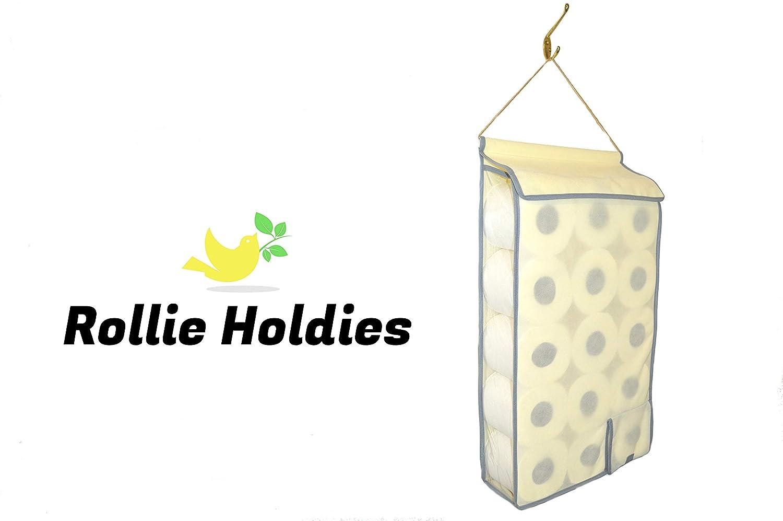 Large Hanging Toilet Roll Holder Organiser Storage bathroom fabric storage dispenser (Grey) Simple Storage Holders