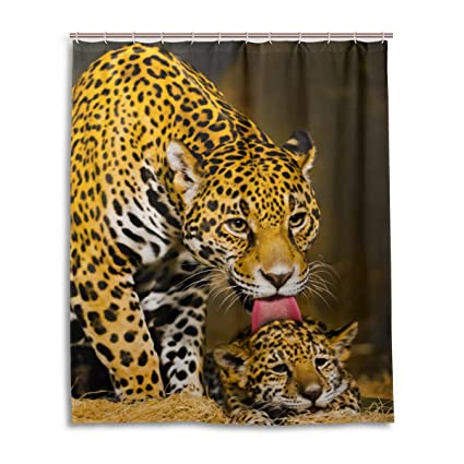 Amazon DNOVING Shower Curtain Jaguar Leopard Stall