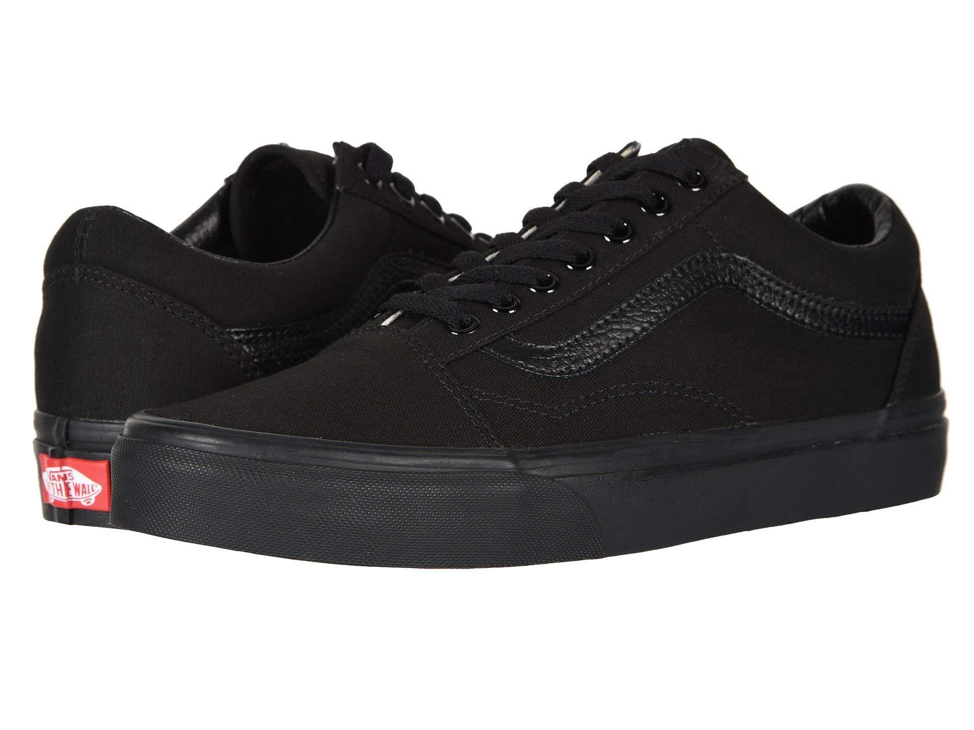 Vans Old Skool Black/Black Size 6 M US Women / 4.5 M US Men by Vans (Image #1)