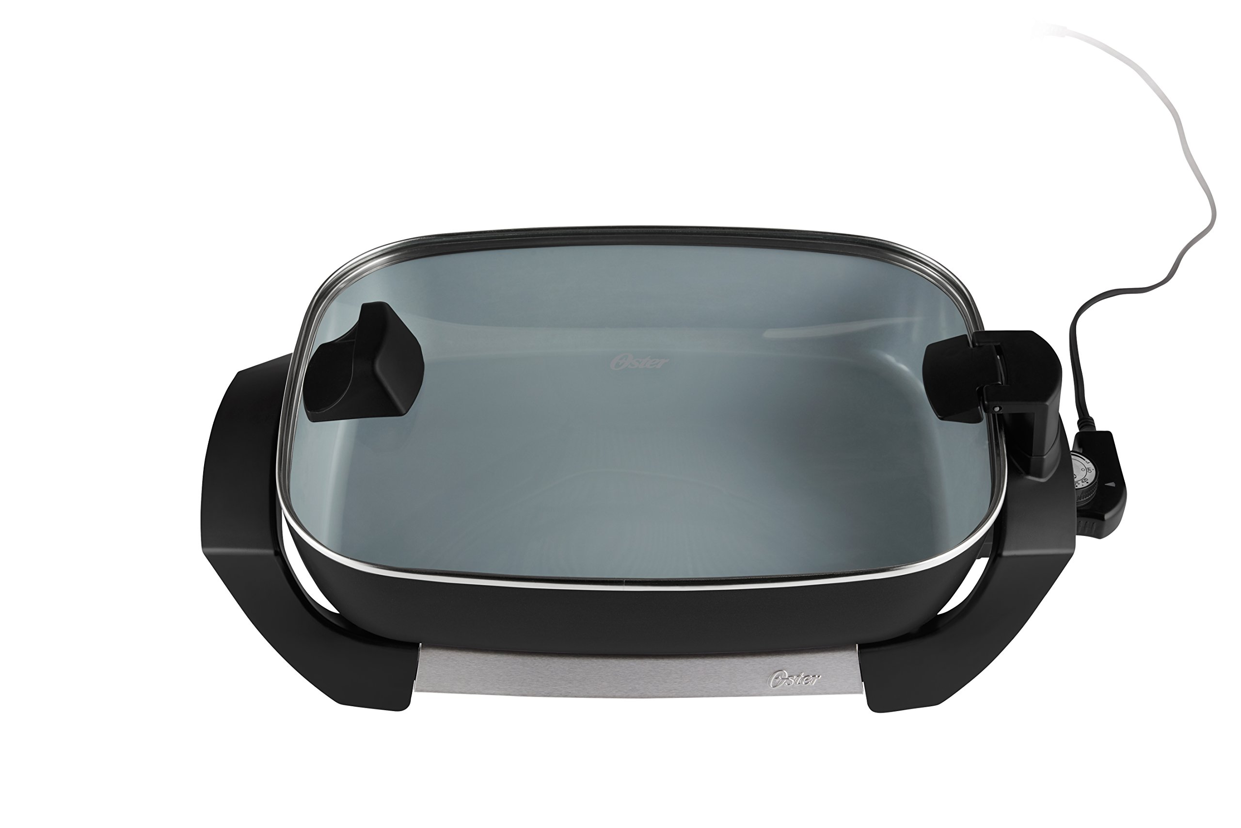 Oster Titanium Infused Duraceramic Skillet, 12'', Black