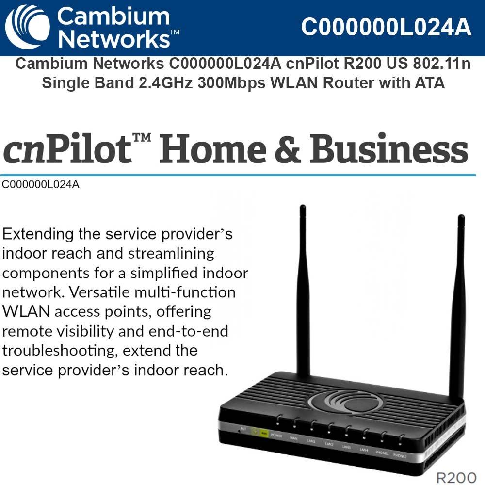 Amazon.com: Cambium cnPilot R200 US 802.11n Single Band 2.4GHz ...