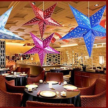 Weihnachtsschnur-hängende Stern-Partei-Dekoration Weihnachtsbaum Ornament DIY
