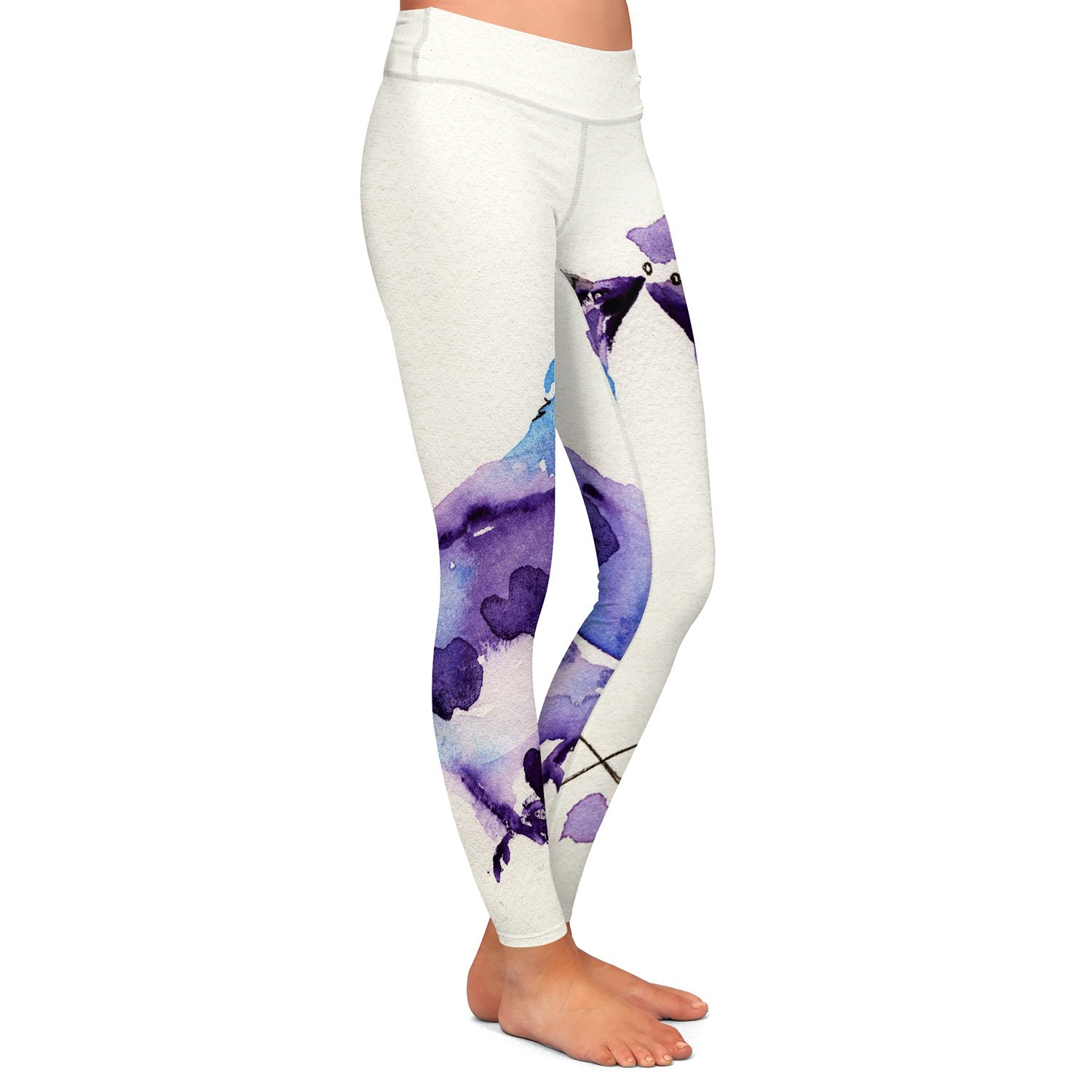 Spring Kiss Athletic Yoga Leggings from DiaNoche Designs by Dawn Derman