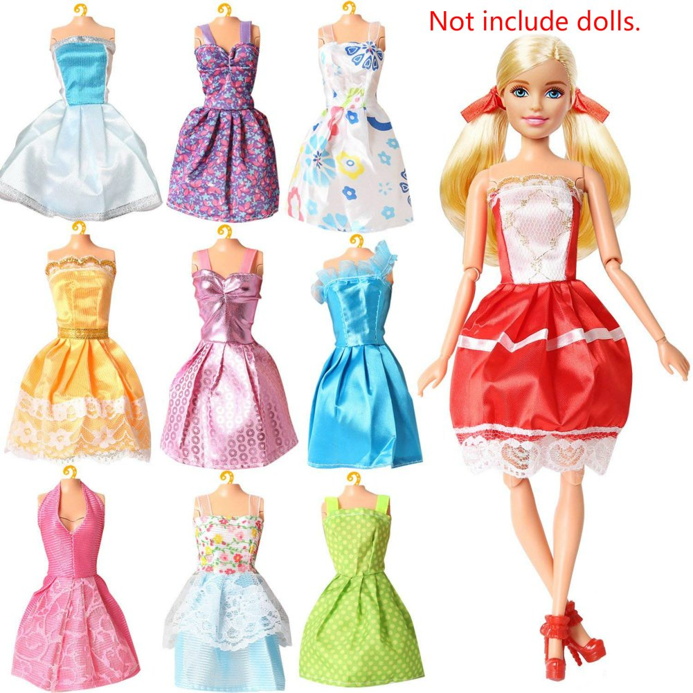 10 x Blumenkleider-Mode für Barbie-Puppe, Partykleid ...