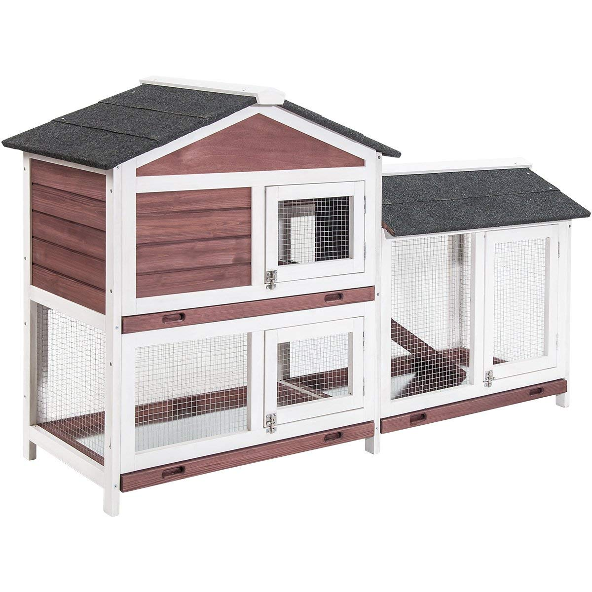 Purlove Pet Rabbit Hutch Wooden House Chicken Coop for Small Animals (Rabbit Hutch #4) by Purlove (Image #3)