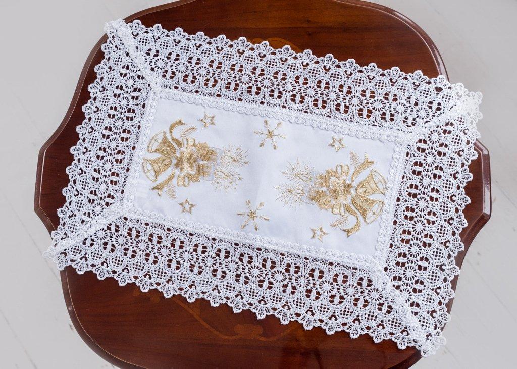 Blanco Doilies - Juego de manteles de Navidad mesa manteles ...