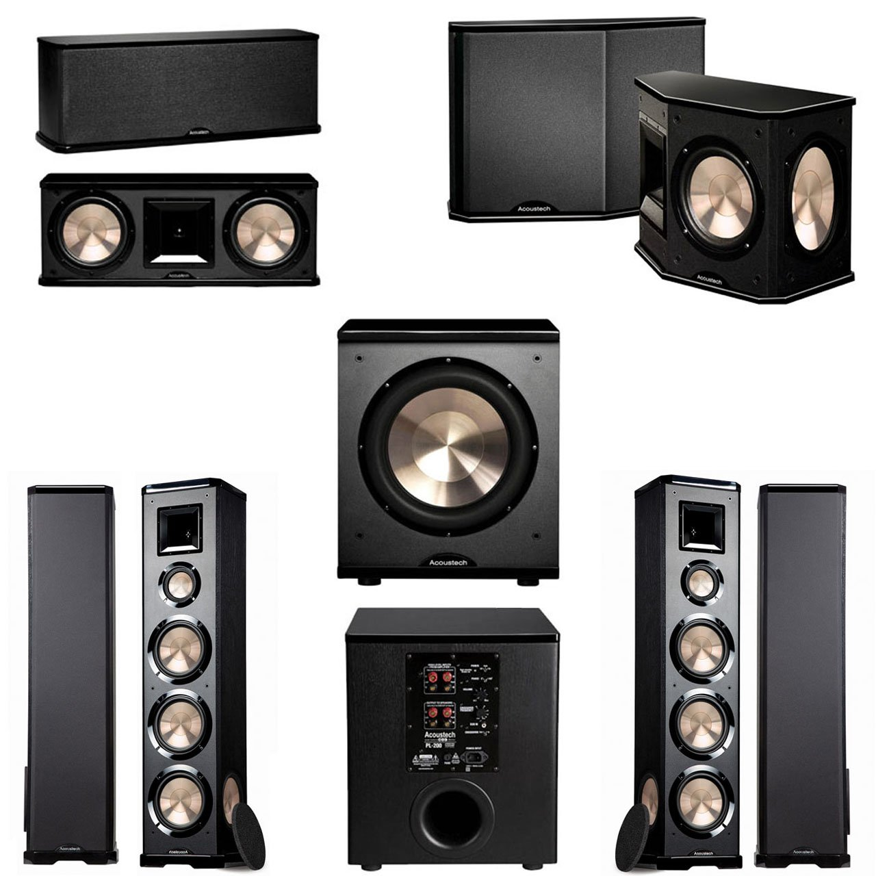 BIC Acoustech PL-980 5.1 Home Theater System- PL-200 NEW!! by BIC