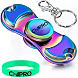 ChillPro Rainbow Fidget Spinner - Fidget Toy for Anxiety and ADHD - Premium Quality EDC Focus Toy for Kids & Adults - Best Stress Reducer, Giving Up Smoking Boredom and Relaxation Toy (Rainbow)