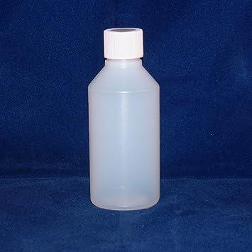 Buybottlesandcans. com 100 ml claro botellas de plástico HDPE tapas con tornillo X 100