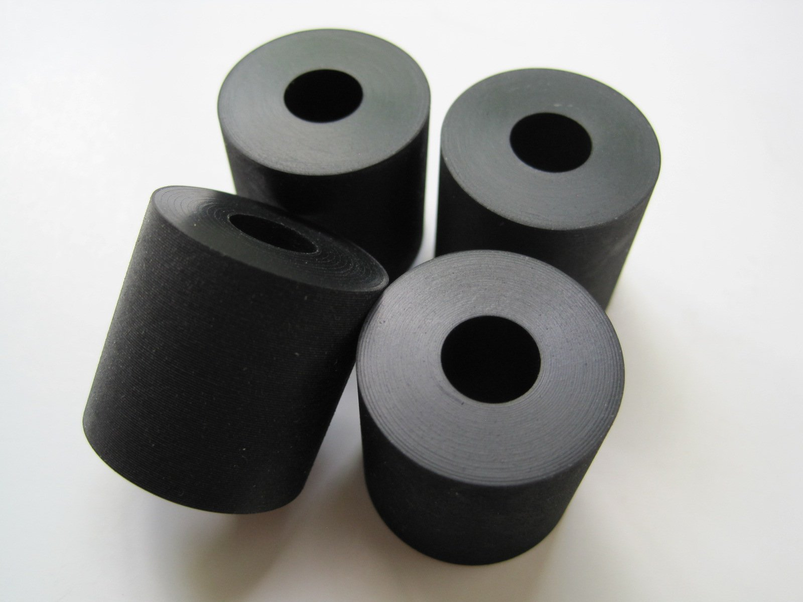 4-Pack - Multi-Purpose Rubber Spacer 1'' OD x 3/8'' ID x 1'' Thick (AVS-X19-13)