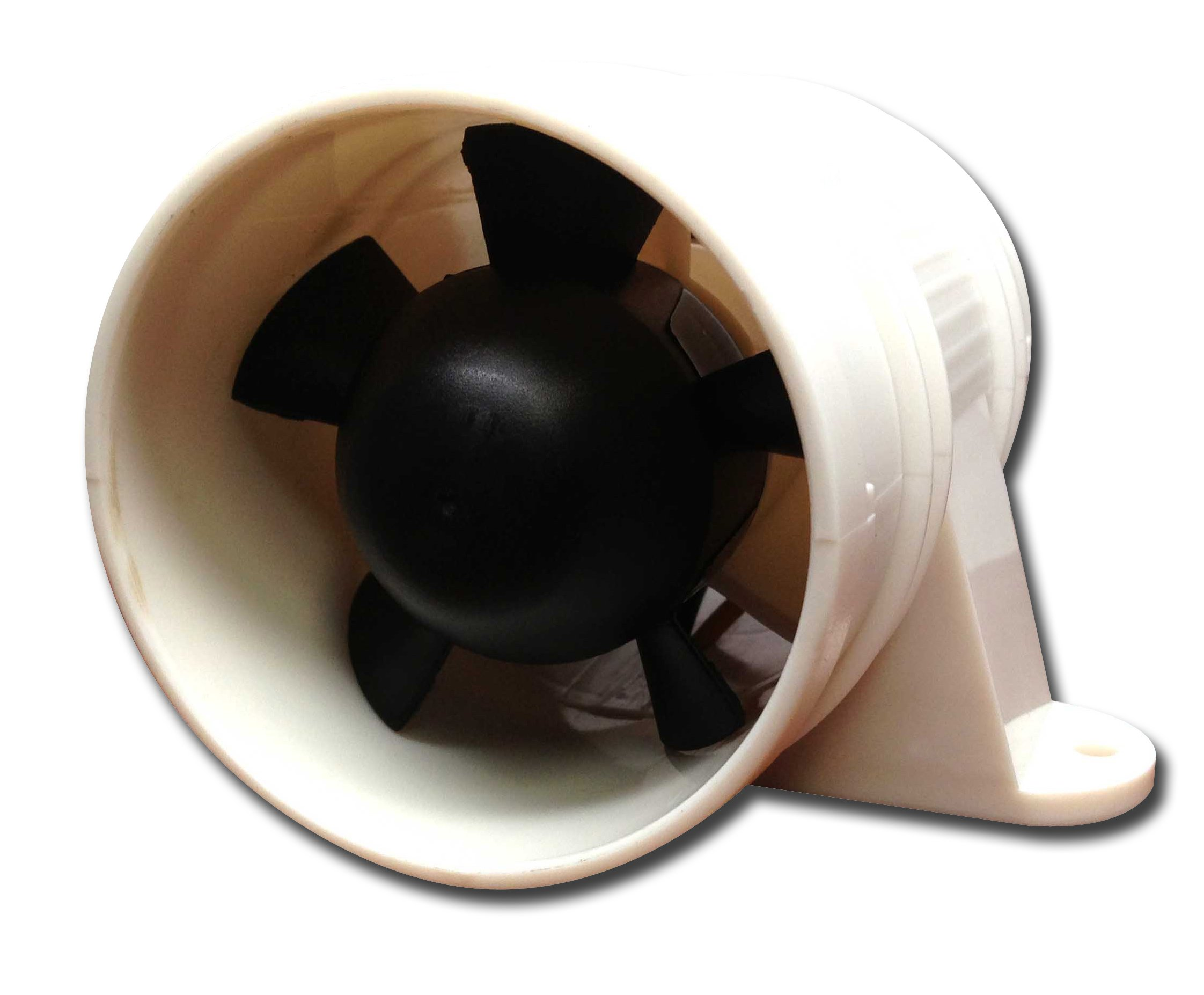 Pactrade Marine High Performance Turbo in Line Bilge Blower, 12V, White