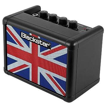 Black Star Fly 3 unión jack amplificadores de guitarra negro