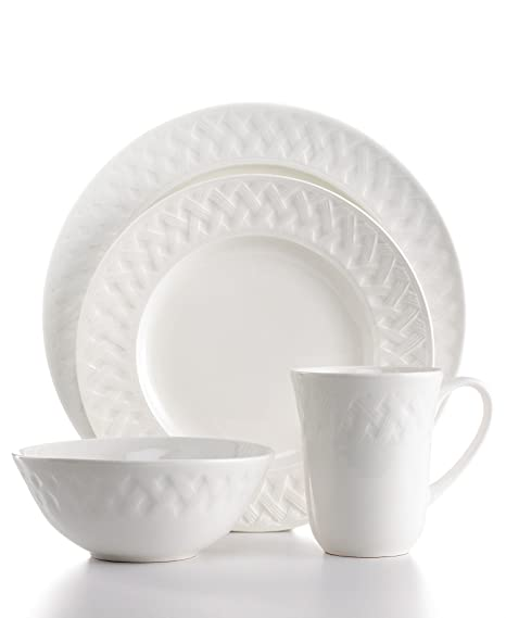 Amazon.com | Martha Stewart Collection 16-piece French Cupboard Dinnerware Set; Service for 4 Coffee Servers Dinnerware Sets  sc 1 st  Amazon.com & Amazon.com | Martha Stewart Collection 16-piece French Cupboard ...