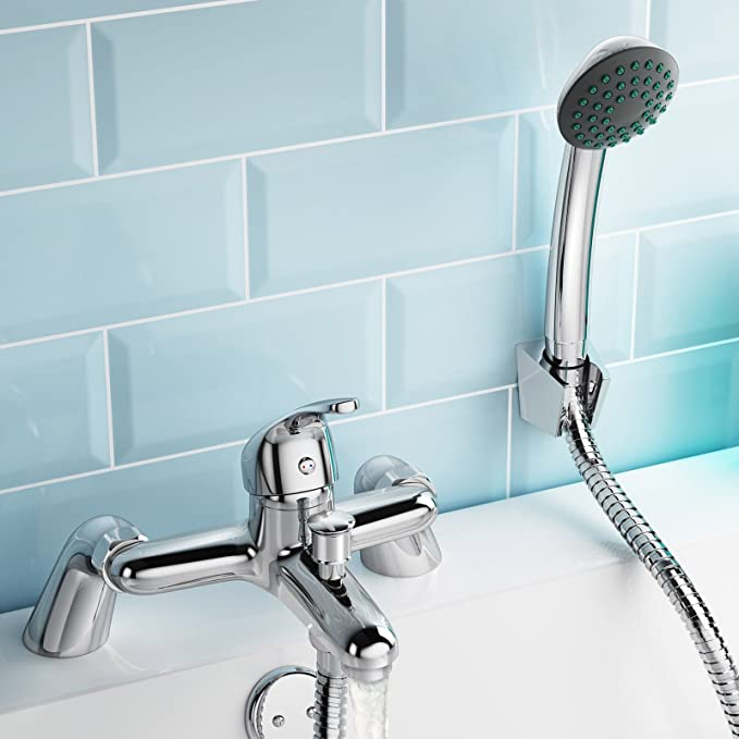 Shower Mixer Bath Filler Tap Set Bathroom Kit Sink Basin Set Tap ...