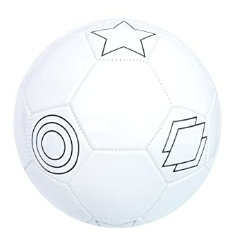 baden colour your own football white