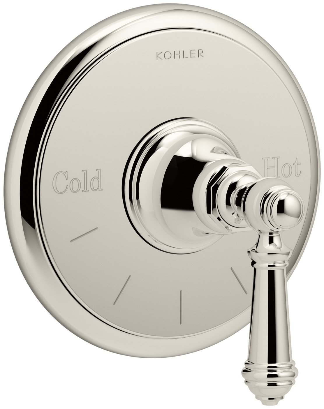 50%OFF KOHLER T72769-4-SN Artifacts Thermostatic valve trim with lever handle, Less Valve, Vibrant Polished Nickel
