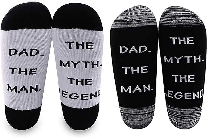 Amazon Levlo 父の日ギフト 父の日 ソックス 父親 男性 神話 伝説 ソックス お父さんへの楽しいプレゼント 新しいお父さんソックス Us サイズ Medium スポーツソックス 通販
