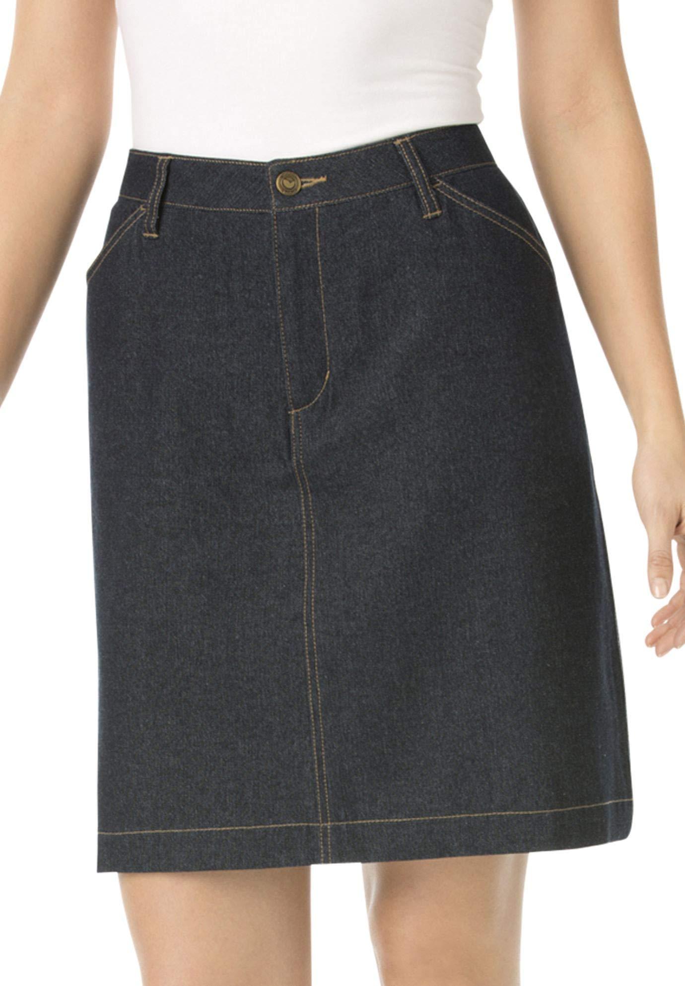 Woman Within Women's Plus Size Cotton Jean Skort