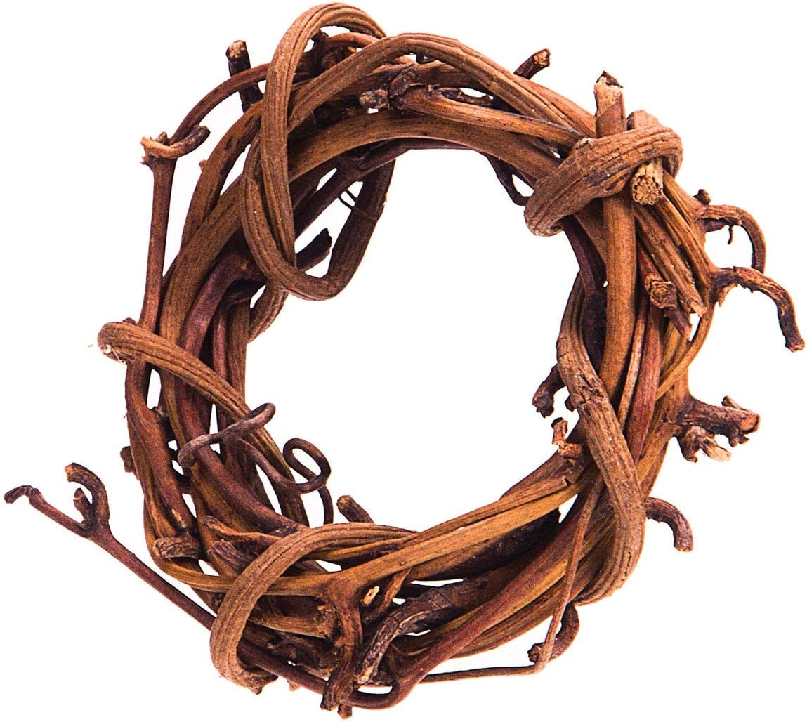 Darice Grapevine Wreath Natural 2 inches (12-Pack) GPV2