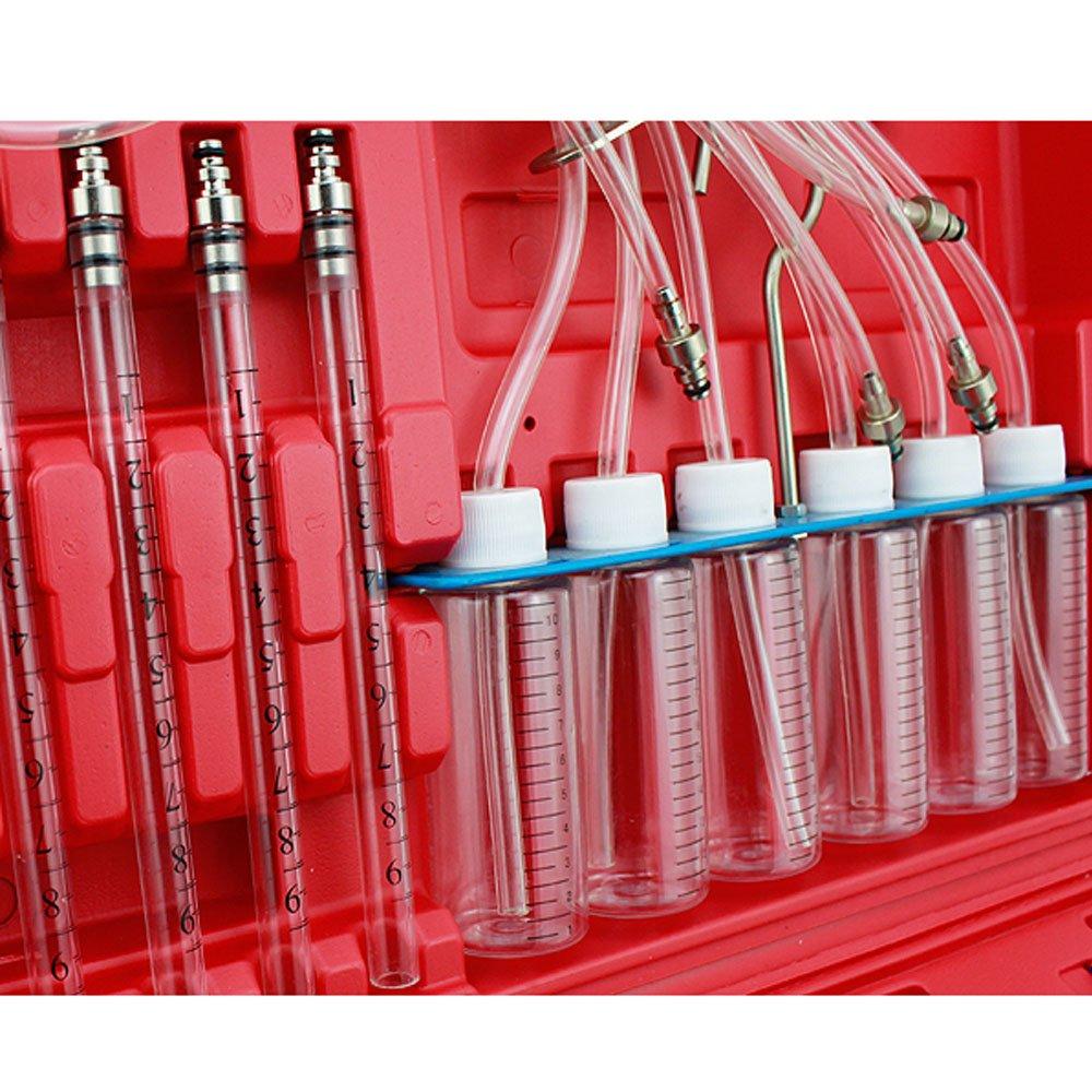 VINGO/® Injektor-R/ücklauf Mengenmesser f/ür Common Rail Tester Diesel R/ücklaufmenge bis zu 6 Einspritzd/üsen