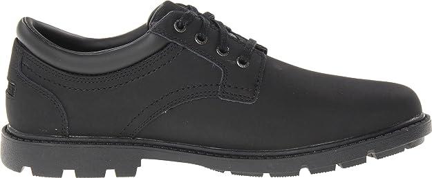 Rockport Rugged Bucks Plain Toe - Zapatos de cordones de cuero para hombre marrón canela GElRq2g8