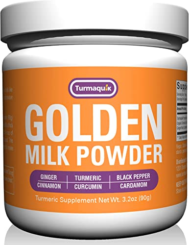 Golden Milk Powder 90 Servings Turmeric 6 Superfood Blend- Non-GMO Vegan Keto