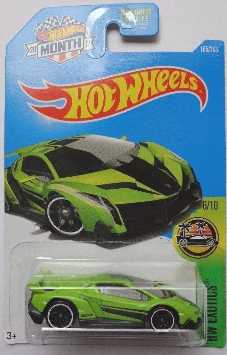 hot wheels 2017 hw exotics lamborghini veneno 165365 neon green